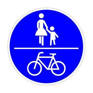 Gemeinsamer Geh-und Radweg