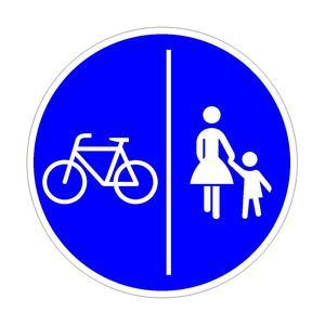 Getrennter Geh- und Radweg
