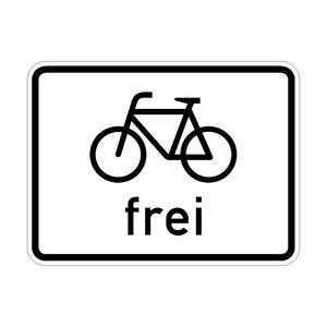 Radfahrer frei