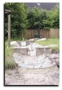 Kindertagesstätte storchengang außengelände wasserlauf