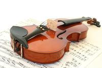 Geige auf Notenblättern