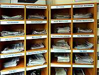 Zeitschriftenfach