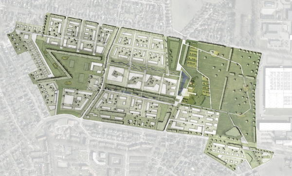 Illustrativer Rahmenplan - Ergebnis aus der Perspektivenwerkstatt