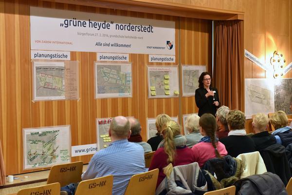Präsentation der Planungstische